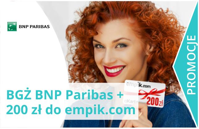 BGŻ BNP Paribas i 200 zł do empik.com.