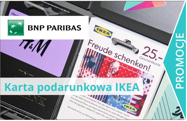 Karta podarunkowa do Ikea od BGŻ BNP Paribas.