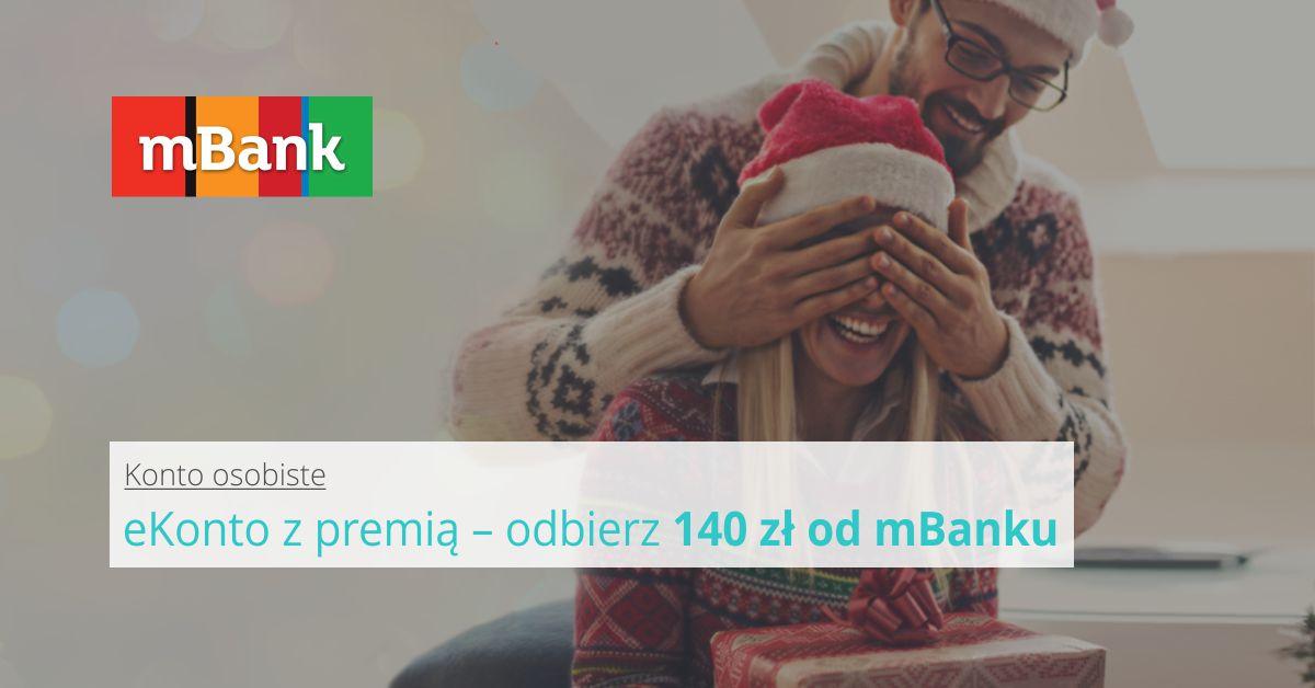 eKonto z premią i 140 zł w prezencie