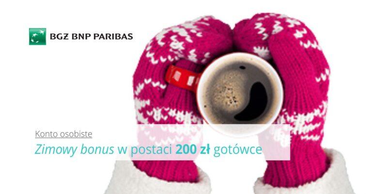 Zimowy bonus, czyli 200 zł za otwarcie konta + 300 zł do Biedronki.