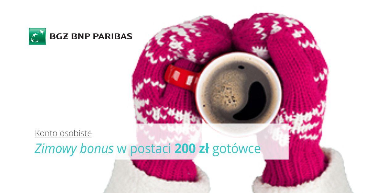 Zimowy bonus, czyli 200 zł za otwarcie konta + 300 zł do Biedronki