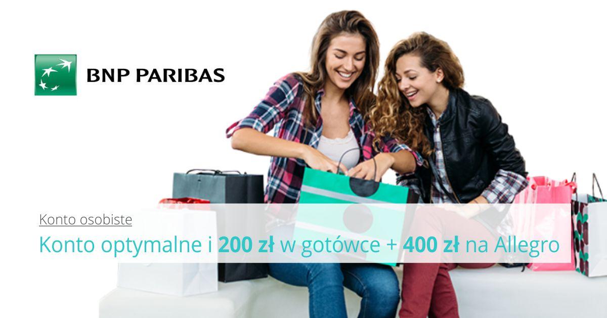 Załóż Konto Optymalne z bonusem 200 zł + 400 zł w bonach na Allegro